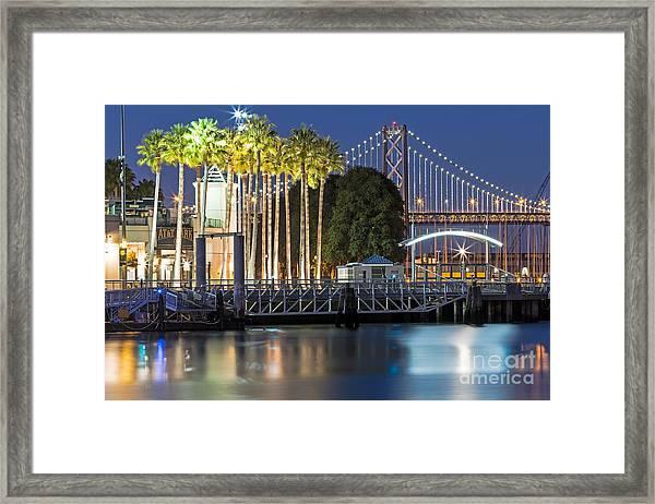 City Lights On Mission Bay Framed Print
