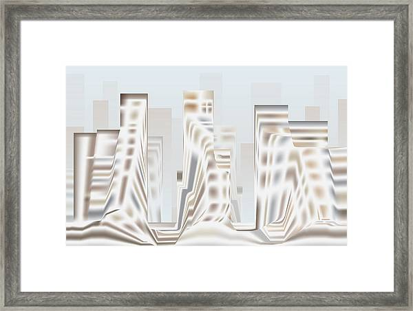 City Mesa 2 Framed Print