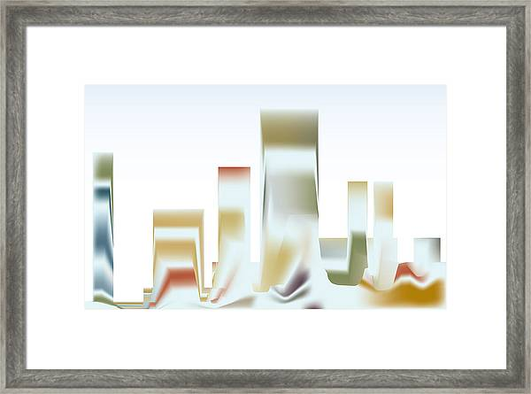 City Mesa Framed Print