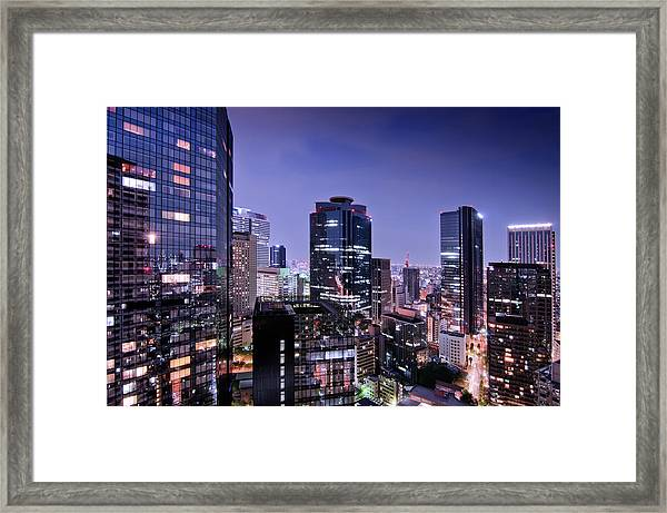 City Of Glass And Light Framed Print