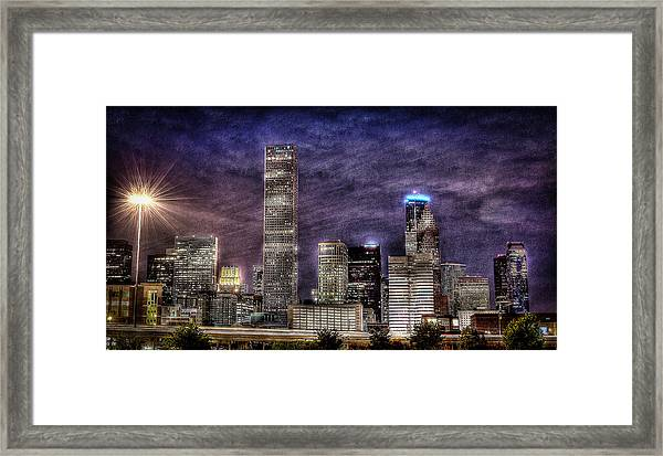 City Of Houston Skyline Framed Print