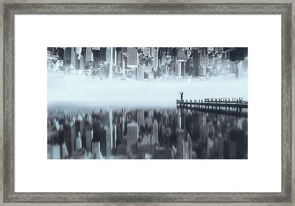 City Of Mirror Framed Print