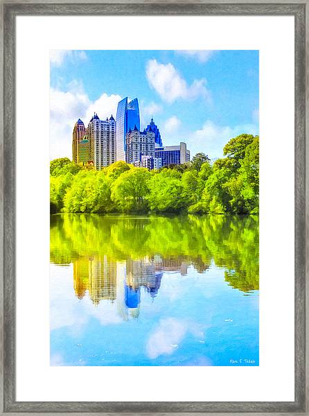 City Of Tomorrow - Atlanta Midtown Skyline Framed Print