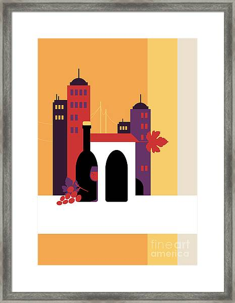 City Of Wine Framed Print