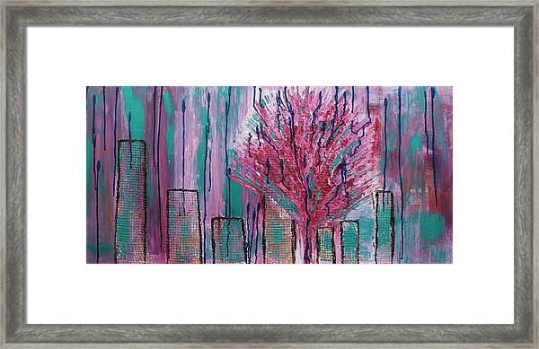 City Pear Tree Framed Print