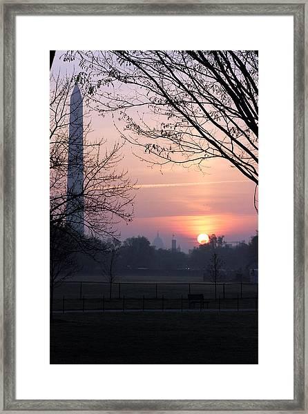 City Rising Framed Print