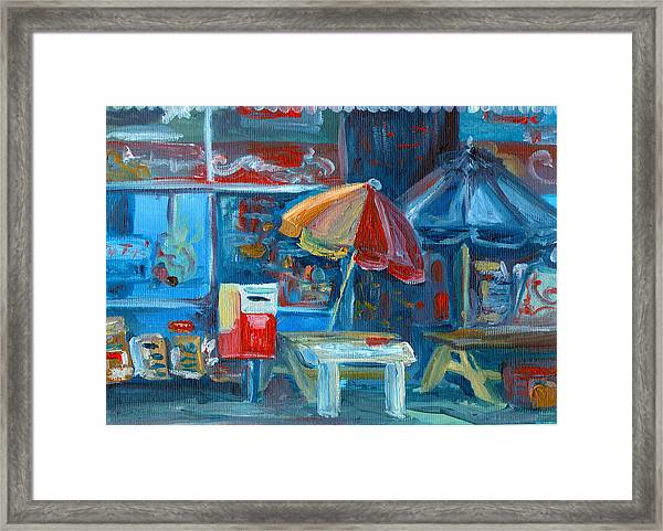 City Shop Diary Store  Framed Print
