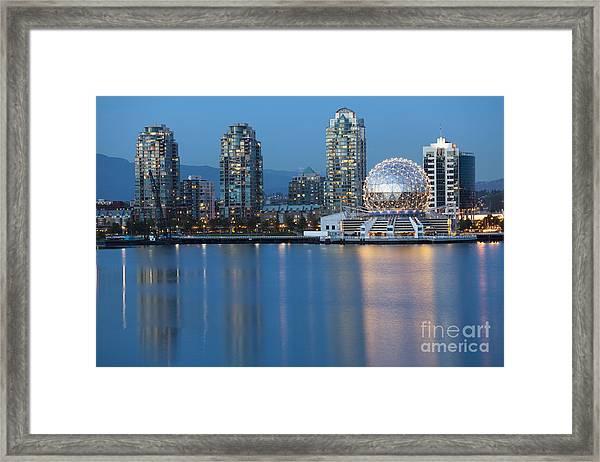 City Skyline -vancouver B.c. Framed Print