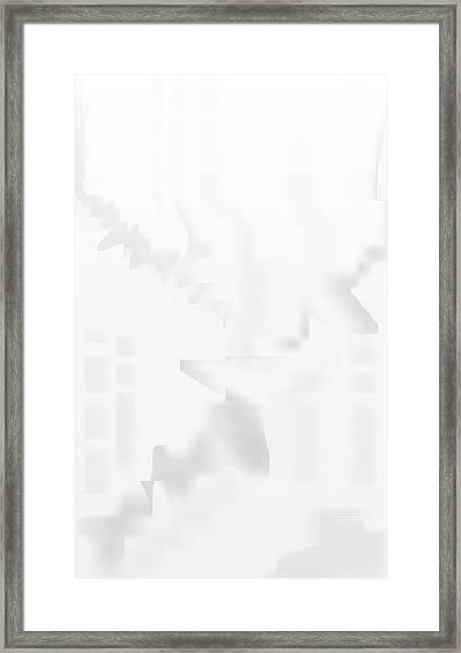 City Stair Framed Print