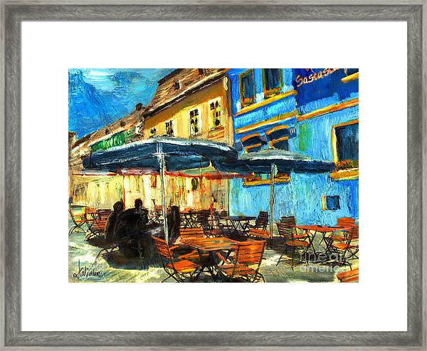 City Street Cafe Framed Print