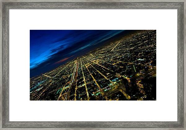 City Street Lights Above Framed Print