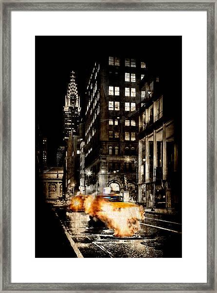 City Streets  Framed Print