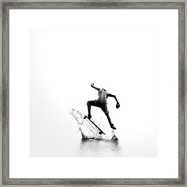 City Surfer Framed Print