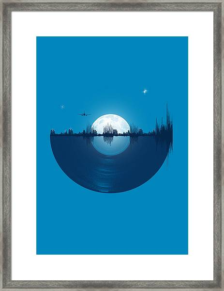 City Tunes Framed Print