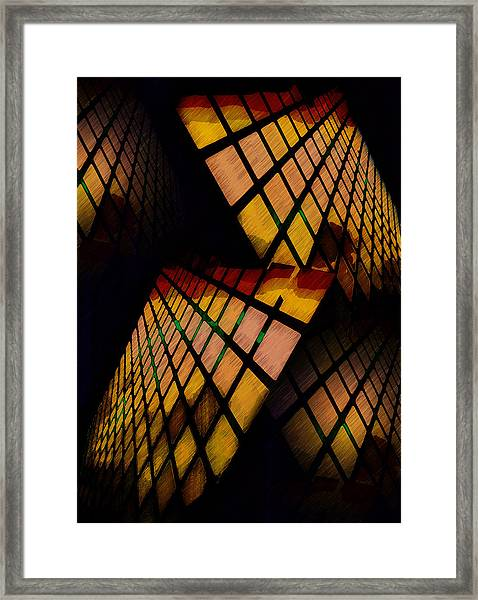 City View Abstract Framed Print