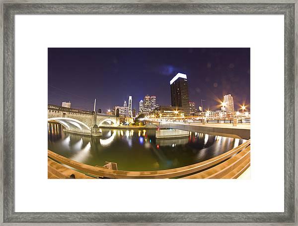City's Reflection Framed Print