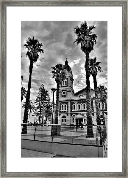 Civic Splendour - Glenelg Beach - Australia Framed Print