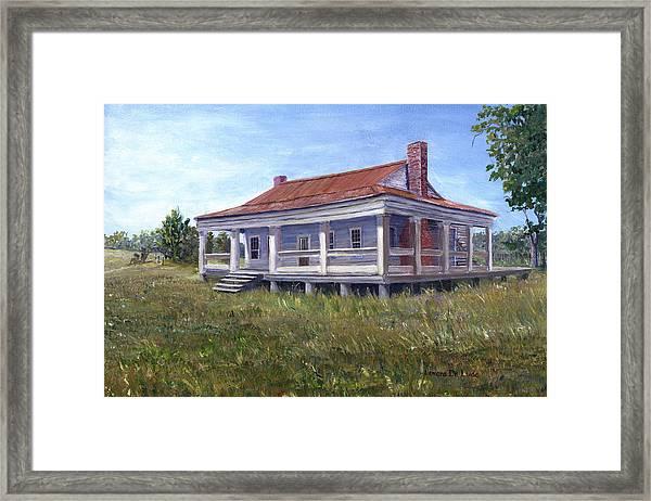 Civil War House Mansfield Louisiana Framed Print