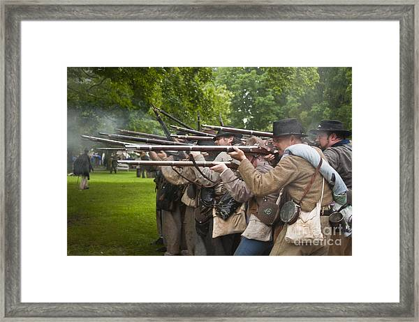 Civil War Reenactment 1 Framed Print