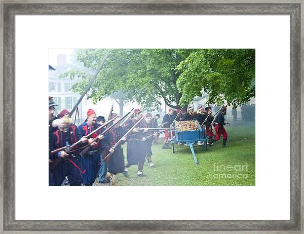 Civil War Reenactment 2 Framed Print