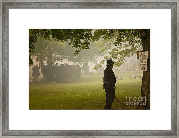 Civil War Reenactment 3 Framed Print