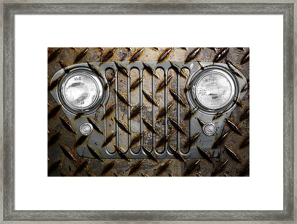 Civilian Jeep- Steel Gray Framed Print