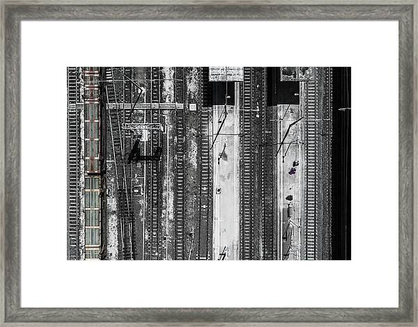 Civitavecchia Train Station Framed Print