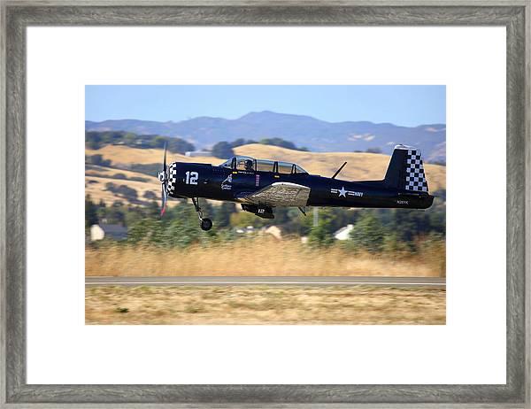 Cj-6 Southern Comfort Gear Coming Up N26yk Framed Print by John King