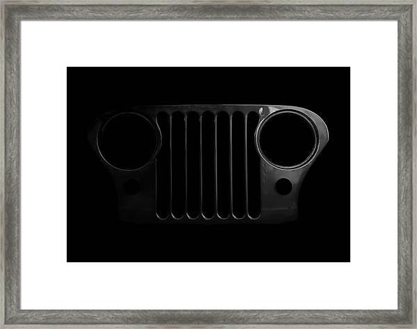 Cj Grille- Fade To Black Framed Print