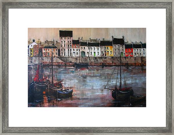 Cladagh Harbour In Galway Framed Print