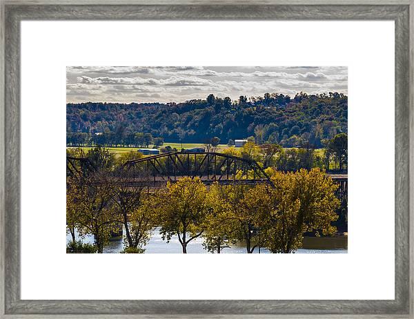 Clarksville Railroad Bridge Framed Print