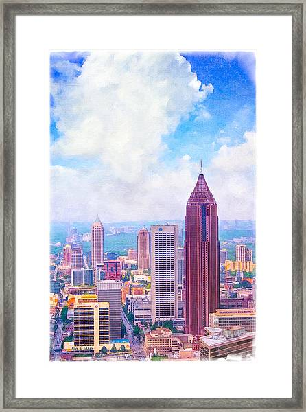 Classic Atlanta Midtown Skyline Framed Print