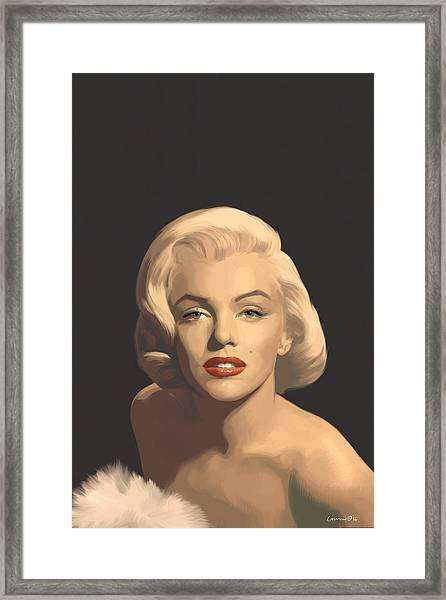 Classic Beauty In Graphic Gray Framed Print