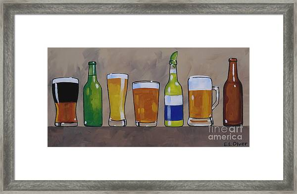 Classic Beers Framed Print
