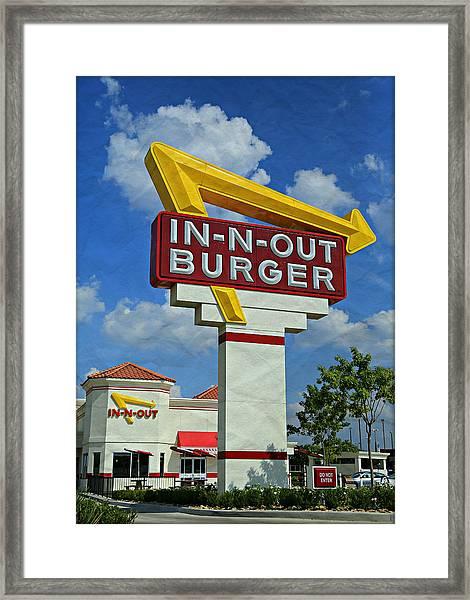 Classic Cali Burger 1.1 Framed Print