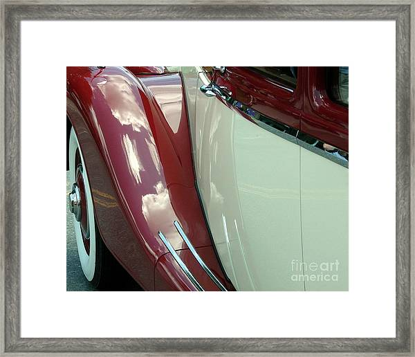 Classic Car Fender Framed Print