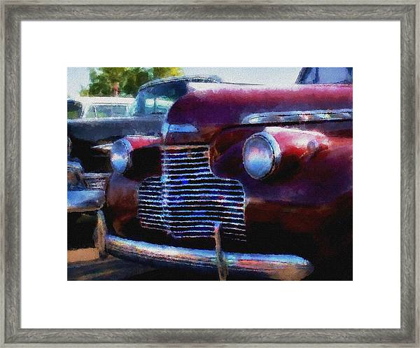 Classic Chevy Water Color Framed Print