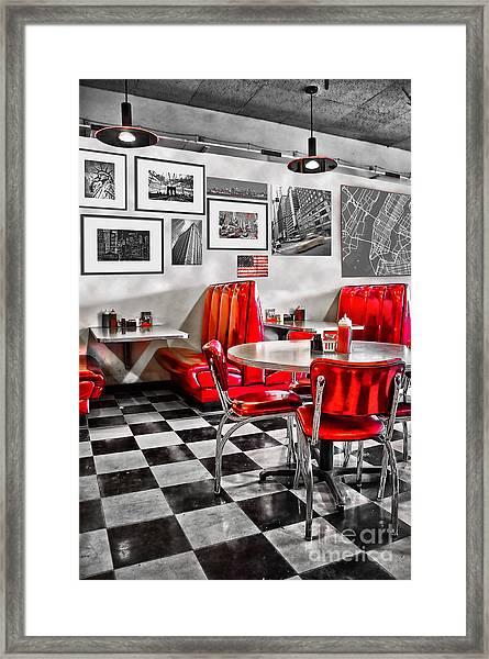 Classic Diner Framed Print