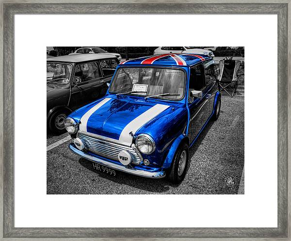Framed Print featuring the photograph Classic Mini Cooper by Lance Vaughn