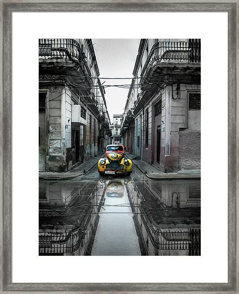 Classic Old Car In Havana, Cuba Framed Print