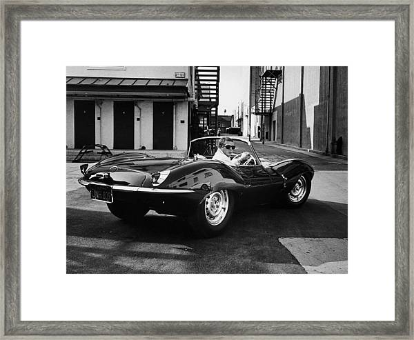 Classic Steve Mcqueen Photo Framed Print