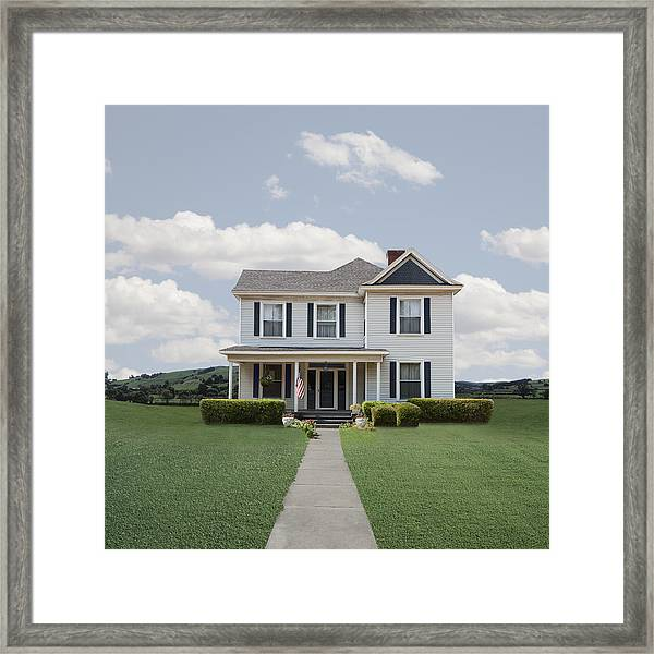 Classic Turn Of The Century American  House Framed Print by Ed Freeman