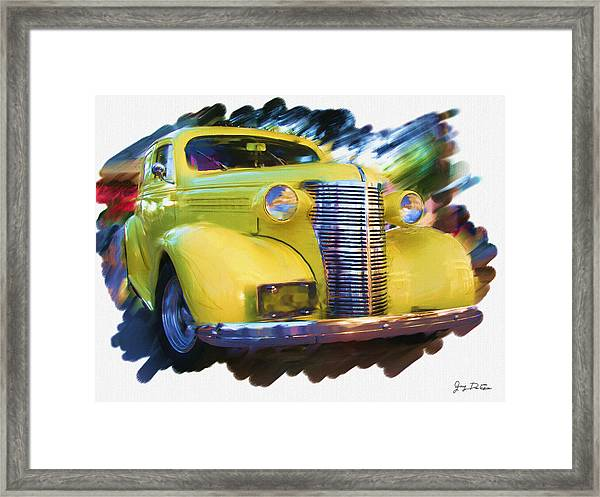 Classic Yellow Car  Framed Print
