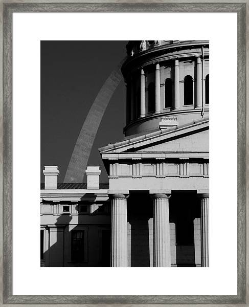 Classical Courthouse Arch Black White Framed Print