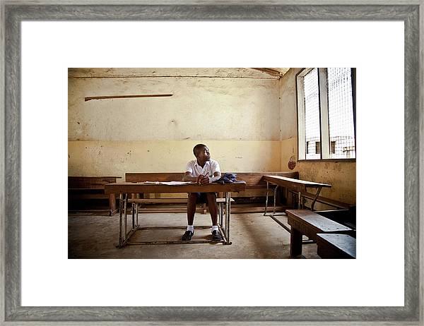 Classroom Daydream Framed Print