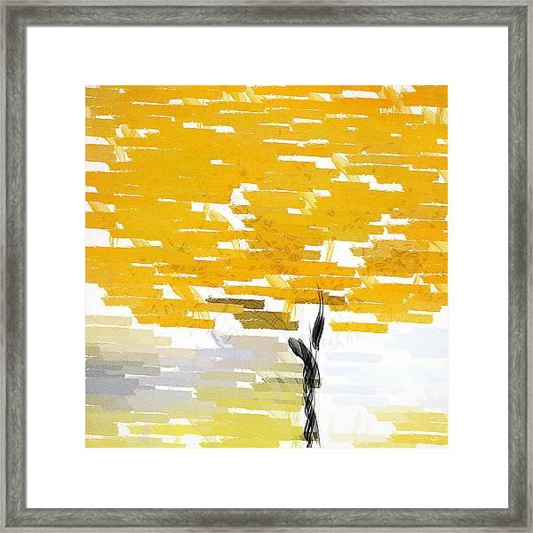 Classy Yellow Tree Framed Print
