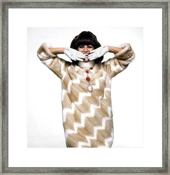 Claudia Cardinale Wearing Emeric Partos Framed Print by Bert Stern