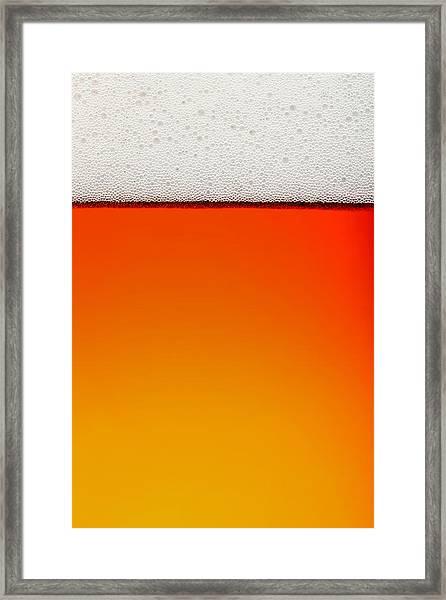 Clean Beer Background Framed Print
