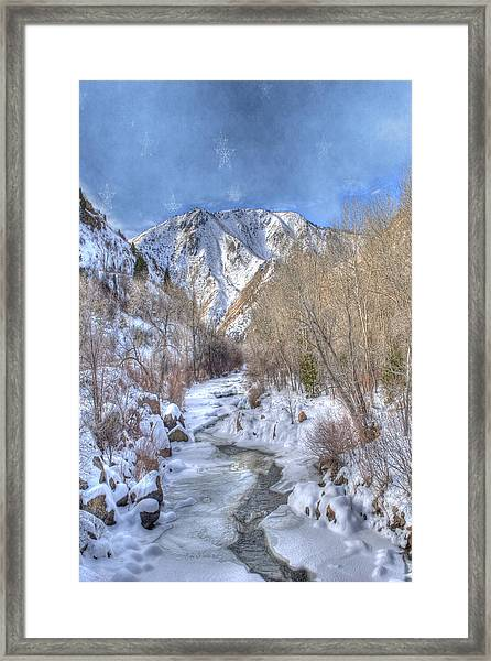 Clear Creek In The Winter Framed Print