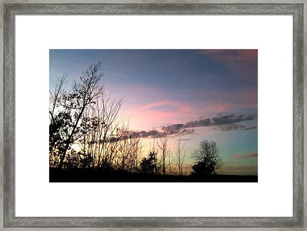 Clear Evening Sky Framed Print